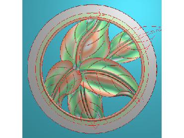 BJ006-JDP格式中式芭蕉叶浮雕图花草电脑雕刻图芭蕉精雕图(含灰度图)