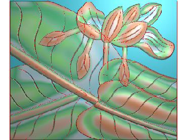 BJ058-JDP格式中式芭蕉叶浮雕图花草电脑雕刻图芭蕉精雕图(含灰度图)