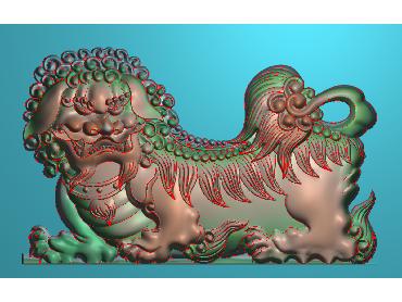 DWRS008-JDP格式中式狮子中式浮雕图狮子电脑激光雕刻图狮子精雕图
