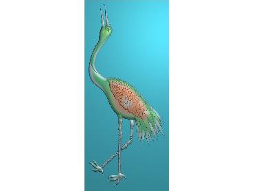 DWRS024-JDP格式中式仙鹤中式浮雕图仙鹤电脑激光雕刻图仙鹤精雕图