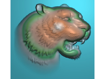 DWRS046-JDP格式中式虎中式浮雕图虎电脑激光雕刻图虎精雕图