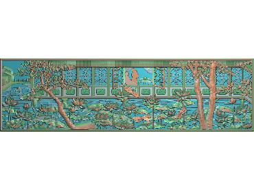 HE004-JDP格式中式荷花中式浮雕图植物花鸟鱼虫电脑雕刻图莲花精雕图(含灰度图)