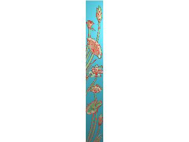 HE074-JDP格式中式荷花中式浮雕图植物花鸟鱼虫电脑雕刻图莲花精雕图(含灰度图)