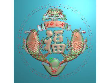 HE126-JDP格式中式荷花中式浮雕图植物花鸟鱼虫电脑雕刻图莲花精雕图(含灰度图)
