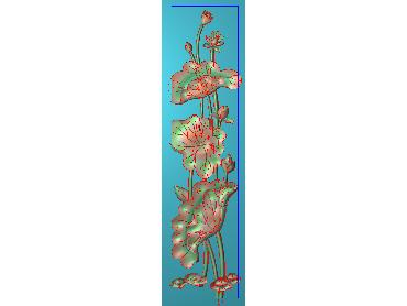 HE150-JDP格式中式荷花中式浮雕图植物花鸟鱼虫电脑雕刻图莲花精雕图(含灰度图)