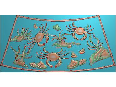 HE173-JDP格式中式荷花中式浮雕图植物花鸟鱼虫电脑雕刻图莲花精雕图(含灰度图)