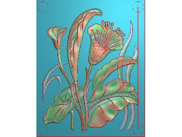 HE213-JDP格式中式荷花中式浮雕图植物花鸟鱼虫电脑雕刻图莲花精雕图(含灰度图)
