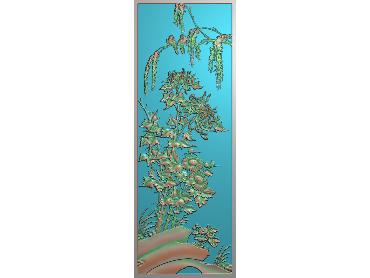HC012-JDP格式中式四季花草中式浮雕图植物花鸟电脑雕刻图花草精雕图(含灰度图)