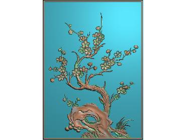 HC035-JDP格式中式四季花草中式浮雕图植物花鸟电脑雕刻图花草精雕图(含灰度图)