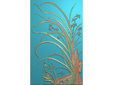 HC062-JDP格式中式四季花草中式浮雕图植物花鸟电脑雕刻图花草精雕图(含灰度图)
