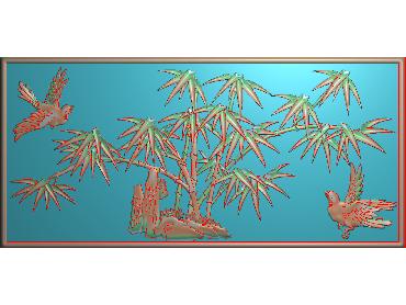 HC092-JDP格式中式四季花草中式浮雕图植物花鸟电脑雕刻图花草精雕图(含灰度图)