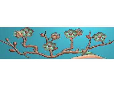 HC101-JDP格式中式四季花草中式浮雕图植物花鸟电脑雕刻图花草精雕图(含灰度图)