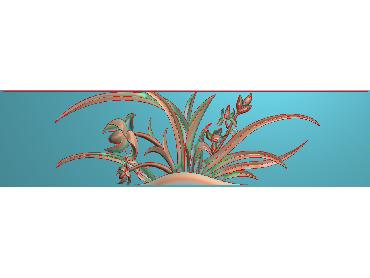 HC103-JDP格式中式四季花草中式浮雕图植物花鸟电脑雕刻图花草精雕图(含灰度图)