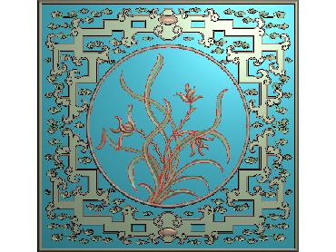 HC105-JDP格式中式四季花草中式浮雕图植物花鸟电脑雕刻图花草精雕图(含灰度图)