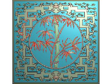HC106-JDP格式中式四季花草中式浮雕图植物花鸟电脑雕刻图花草精雕图(含灰度图)