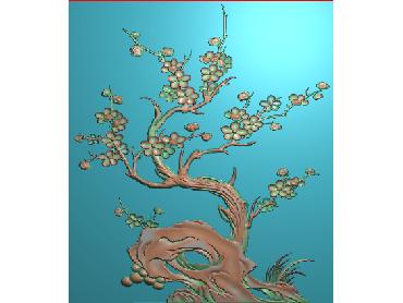 HC109-JDP格式中式四季花草中式浮雕图植物花鸟电脑雕刻图花草精雕图(含灰度图)