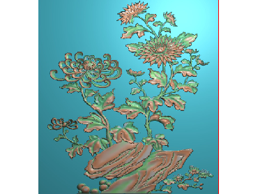 HC111-JDP格式中式四季花草中式浮雕图植物花鸟电脑雕刻图花草精雕图(含灰度图)