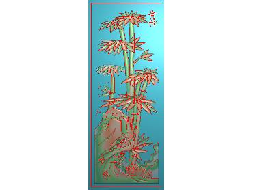 HC124-JDP格式中式四季花草中式浮雕图植物花鸟电脑雕刻图花草精雕图(含灰度图)