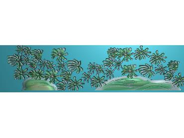 HC146-JDP格式中式四季花草中式浮雕图植物花鸟电脑雕刻图花草精雕图(含灰度图)