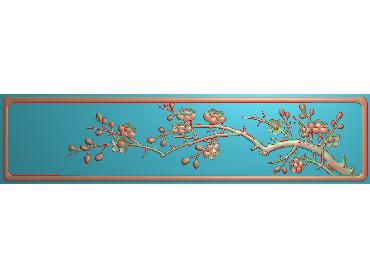HC177-JDP格式中式四季花草中式浮雕图植物花鸟电脑雕刻图花草精雕图(含灰度图)
