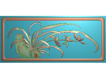 HC183-JDP格式中式四季花草中式浮雕图植物花鸟电脑雕刻图花草精雕图(含灰度图)