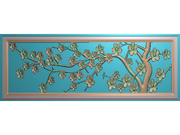 HC187-JDP格式中式四季花草中式浮雕图植物花鸟电脑雕刻图花草精雕图(含灰度图)