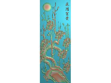 HC189-JDP格式中式四季花草中式浮雕图植物花鸟电脑雕刻图花草精雕图(含灰度图)