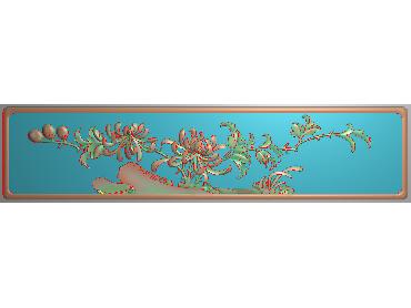 HC192-JDP格式中式四季花草中式浮雕图植物花鸟电脑雕刻图花草精雕图(含灰度图)