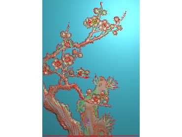 HC201-JDP格式中式四季花草中式浮雕图植物花鸟电脑雕刻图花草精雕图(含灰度图)
