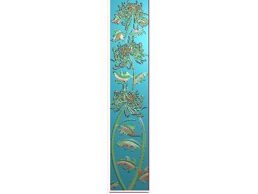 HC225-JDP格式中式四季花草中式浮雕图植物花鸟电脑雕刻图花草精雕图(含灰度图)