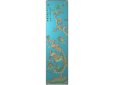 HC250-JDP格式中式四季花草中式浮雕图植物花鸟鱼虫电脑雕刻图花草精雕图