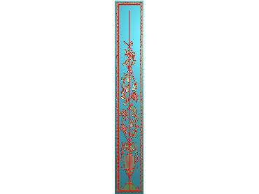 HC272-JDP格式中式四季花草中式浮雕图植物花鸟鱼虫电脑雕刻图花草精雕图