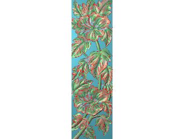 HC284-JDP格式中式四季花草中式浮雕图植物花鸟鱼虫电脑雕刻图花草精雕图