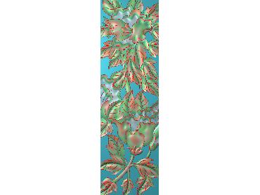 HC285-JDP格式中式四季花草中式浮雕图植物花鸟鱼虫电脑雕刻图花草精雕图