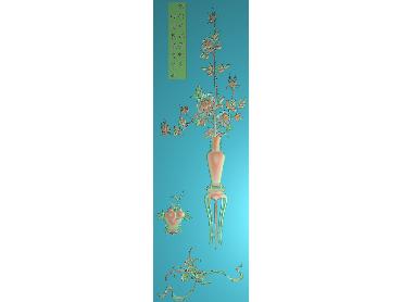 HC313-JDP格式中式四季花草中式浮雕图植物花鸟鱼虫电脑雕刻图花草精雕图