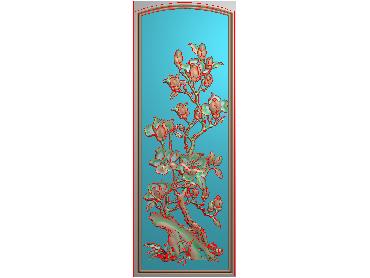 HC345-JDP格式中式四季花草中式浮雕图植物花鸟鱼虫电脑雕刻图花草精雕图