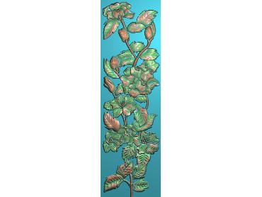 HC346-JDP格式中式四季花草中式浮雕图植物花鸟鱼虫电脑雕刻图花草精雕图
