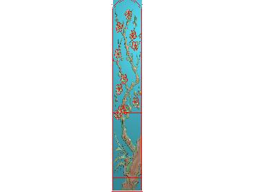 MLZJ031-JDP格式中式梅兰竹菊浮雕图花鸟鱼虫电脑雕刻图四君子精雕图