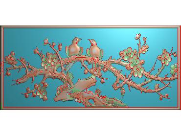 MLZJ051-JDP格式中式梅兰竹菊浮雕图花鸟鱼虫电脑雕刻图四君子精雕图