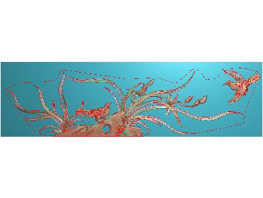 MLZJ055-JDP格式中式梅兰竹菊浮雕图花鸟鱼虫电脑雕刻图四君子精雕图