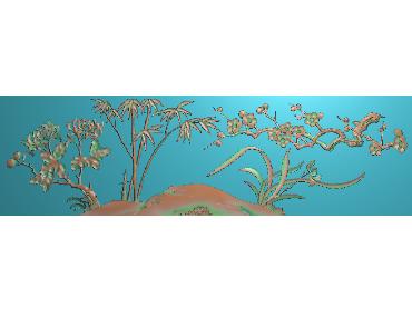 MLZJ136-JDP格式中式梅兰竹菊浮雕图花鸟鱼虫电脑雕刻图四君子精雕图