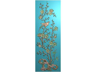 MLZJ147-JDP格式中式梅兰竹菊浮雕图花鸟鱼虫电脑雕刻图四君子精雕图