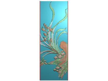 MLZJ156-JDP格式中式梅兰竹菊浮雕图花鸟鱼虫电脑雕刻图四君子精雕图