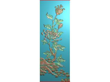 MLZJ157-JDP格式中式梅兰竹菊浮雕图花鸟鱼虫电脑雕刻图四君子精雕图