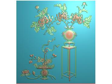 MLZJ184-JDP格式中式梅兰竹菊浮雕图花鸟鱼虫电脑雕刻图四君子精雕图