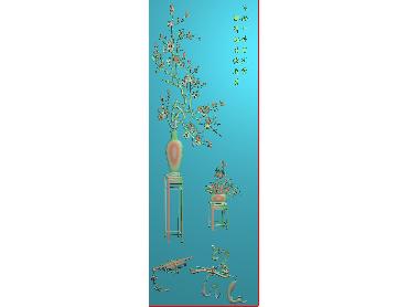 MLZJ185-JDP格式中式梅兰竹菊浮雕图花鸟鱼虫电脑雕刻图四君子精雕图