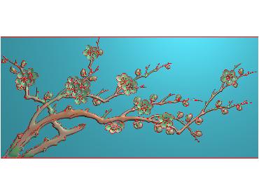 MLZJ187-JDP格式中式梅兰竹菊浮雕图花鸟鱼虫电脑雕刻图四君子精雕图