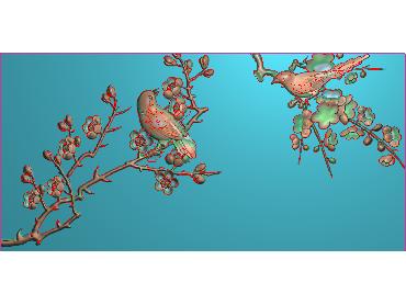 MLZJ191-JDP格式中式梅兰竹菊浮雕图花鸟鱼虫电脑雕刻图四君子精雕图