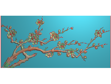 MLZJ193-JDP格式中式梅兰竹菊浮雕图花鸟鱼虫电脑雕刻图四君子精雕图