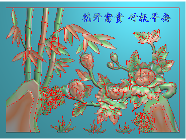 MLZJ196-JDP格式中式梅兰竹菊浮雕图花鸟鱼虫电脑雕刻图四君子精雕图